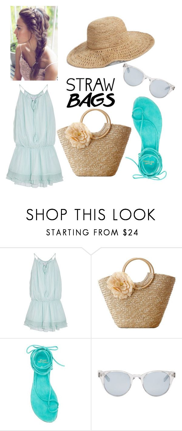 """""""summer cuts"""" by zahrohusna on Polyvore featuring Elizabeth and James, Stuart Weitzman, Sun Buddies, Nordstrom and strawbags"""