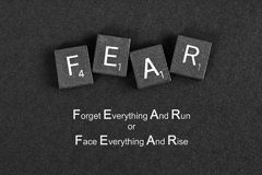 Barbara West Art - Fear Inspirational Quote by Barbara West