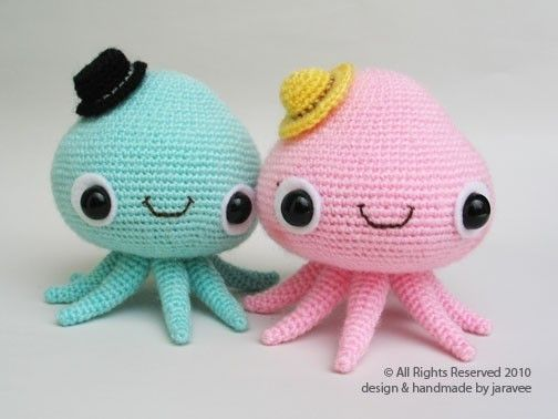 Mr. and Mrs. Jelly Fish Crochet Pattern (pay $5.39)
