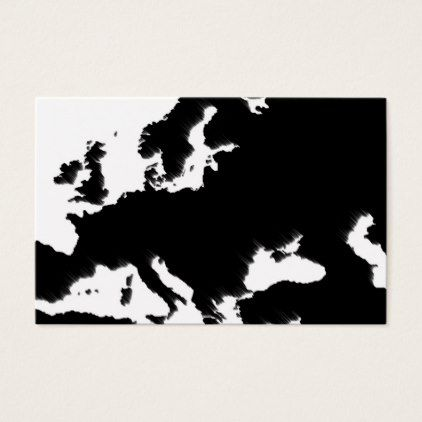 Map of Europe and wind - black and white Business Card - black and white gifts unique special b&w style