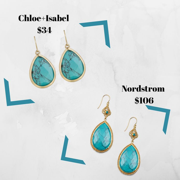 Splurge vs Steal #ChloeandIsabel vs Nordstrorm #Torquiose #Earrings   www.chloeandisabel.com/boutqiue/meganhallett