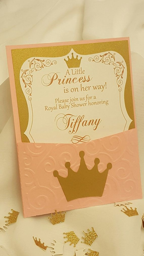 A Little Princess Baby shower Invitations by CraftySistersPlus1