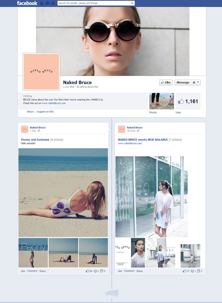 facebook.com/pages/Naked-Bruce #FacebookDesign