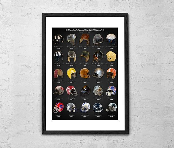 The Evolution of the NFL Football Helmet  by TaylanSoyturkFineArt