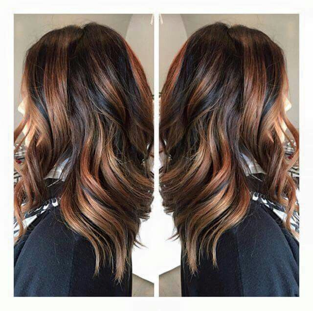 Coffee Gold Brown Hair
