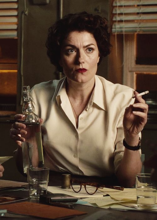 "Anna Chancellor as Lix Storm in ""The Hour"" (2011)"