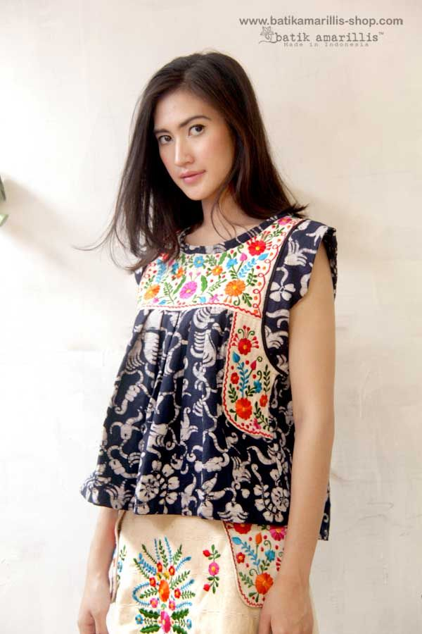 Batik Amarillis   ...Made in Indonesia  ... Mexican folk art inspired