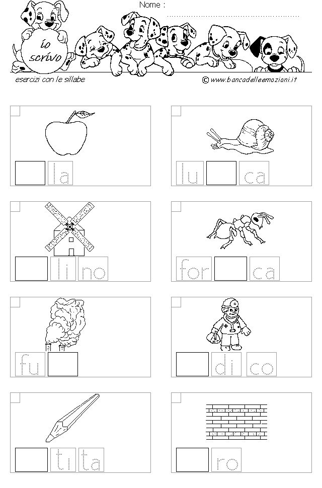 esercizi alfabeto - Cerca con Google