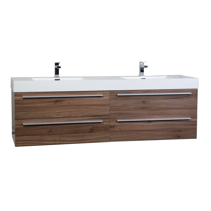 Buy Andria 71 inch Contemporary Double Wall Mounted Walnut TN-M1810-WN on ConceptBaths.com , FREE SHIPPING