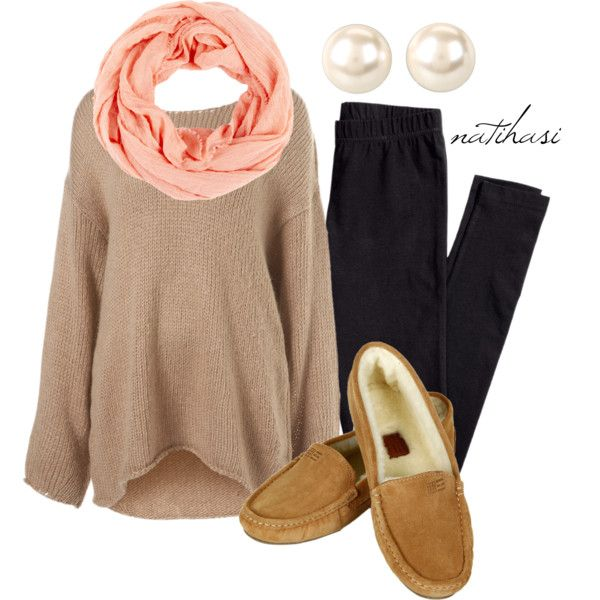 """""""Comfy Fall Outfit"""" by natihasi on Polyvore. Totally wear this while cuddling and drinking hot chocolate!"""