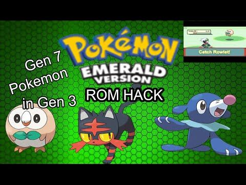 Pokemon Emerald Rom Hack with gen 7 Pokemon!DISCONTINUED  YouTube