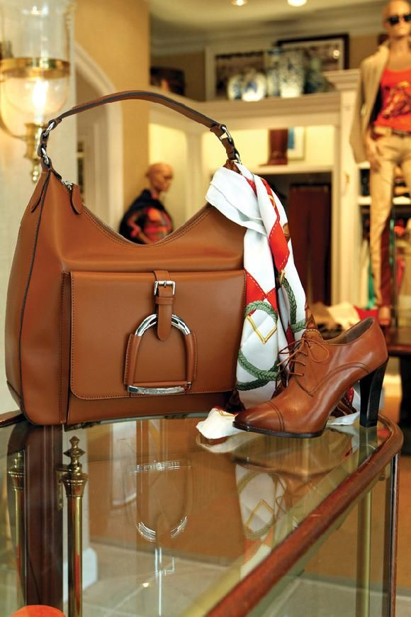 Ralph Lauren over sized purse and booties