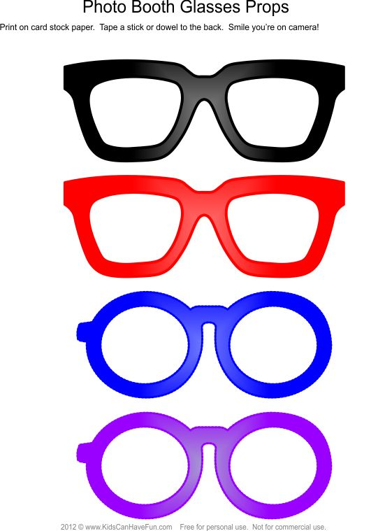glasses Photo Booth Props
