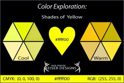 Eva Maria Keiser Designs:  Explore Color:  Shades of Yellow