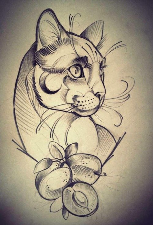 Tatuaje gato ~ Cat tattoo