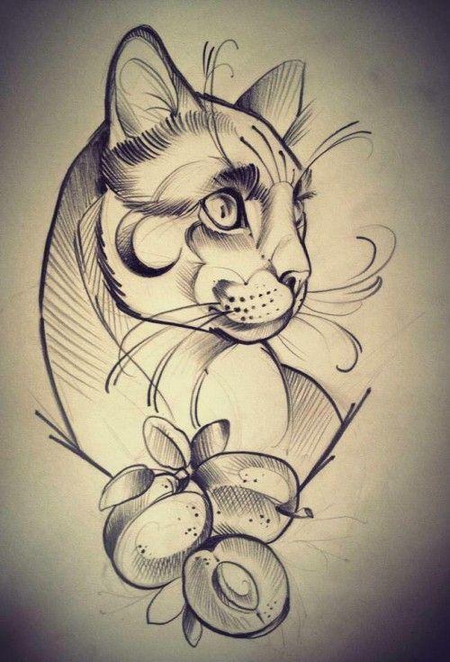 Tatuaje gato tatu gato 1