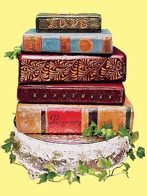 Literary Theme Wedding Cake Idea