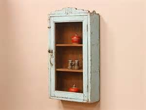 SOLD This Is A Lovely Blue Wall Hanging Vintage Medicine Cabinet With A  Decorative Crown. Its Classic Proportions And Art Deco Deta
