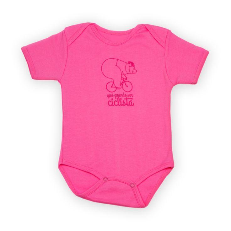 Body bebé ciclismo, de la colección qué grande ser ciclista. Disponibles en tres colores. Cycling t-shirt.