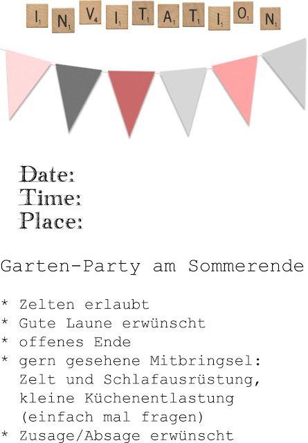 Persönlicher Stempel und Einladungen zur Gartenparty  {DIY