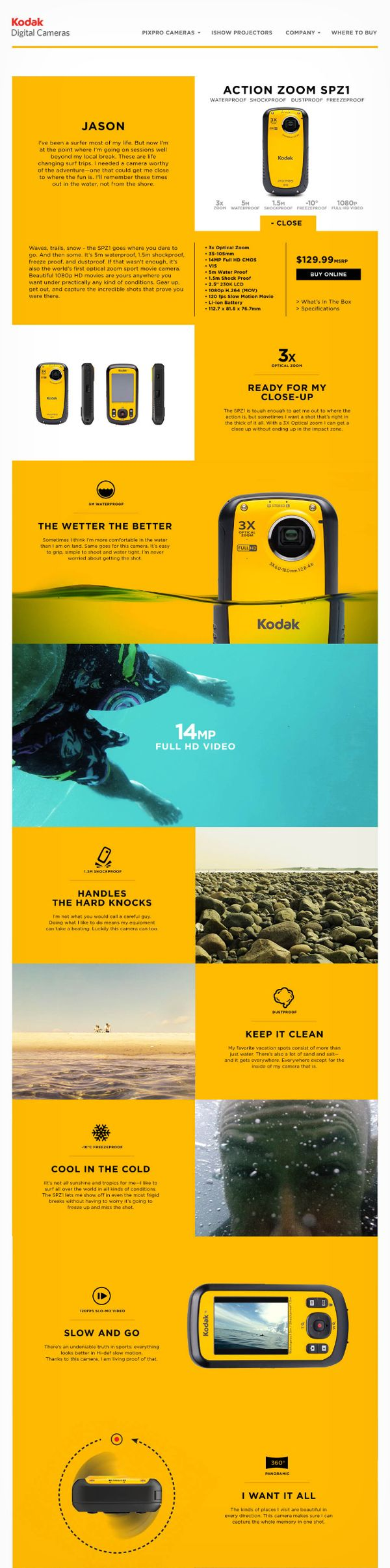 Kodak Digital Cameras on Web Design Served