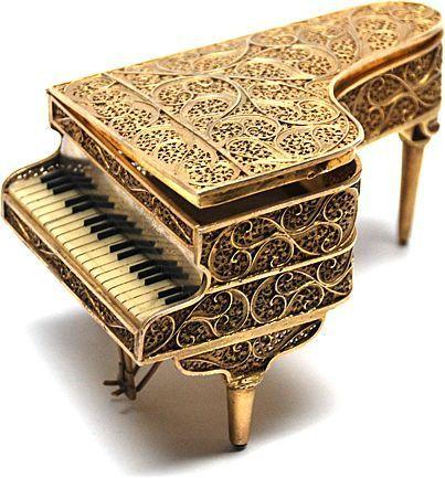 Antique Napoleon III Miniature Grand Piano Music Box
