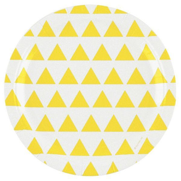 Yellow Triangle Plates (20 pack) – Lucky Lulu Party Shop