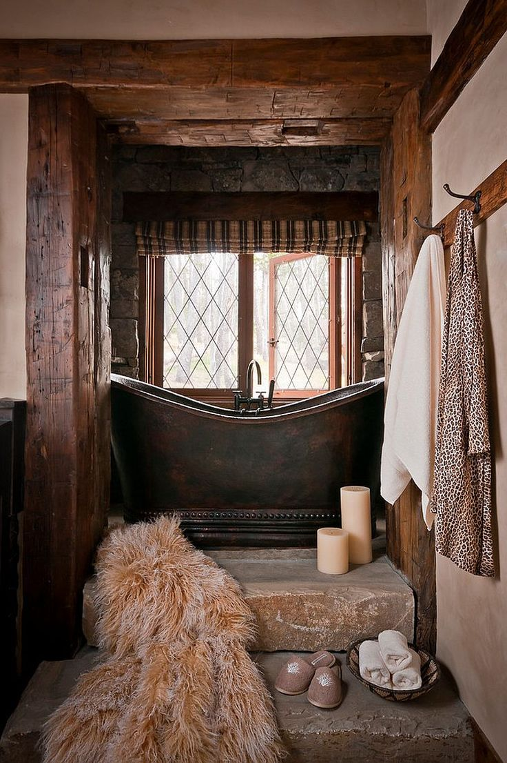 Small rustic bathrooms - Dancing Hearts Picture Perfect Hillside Escape In Montana