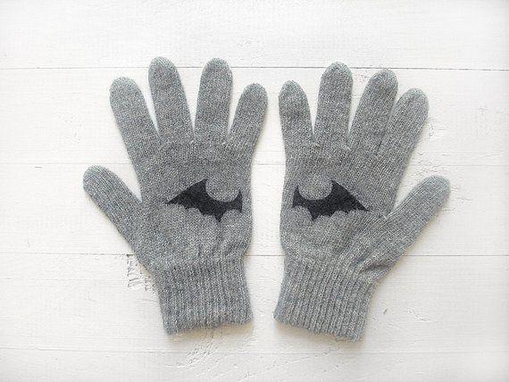 Bat Gloves, Winter Gloves, Gift For Men, Boyfriend Gift, Bat Lover Gift, Men Gloves, Unisex Gloves,