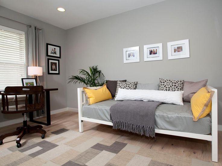 Gray And Yellow Daybed Bedding : Ideas about yellow gray room on grey