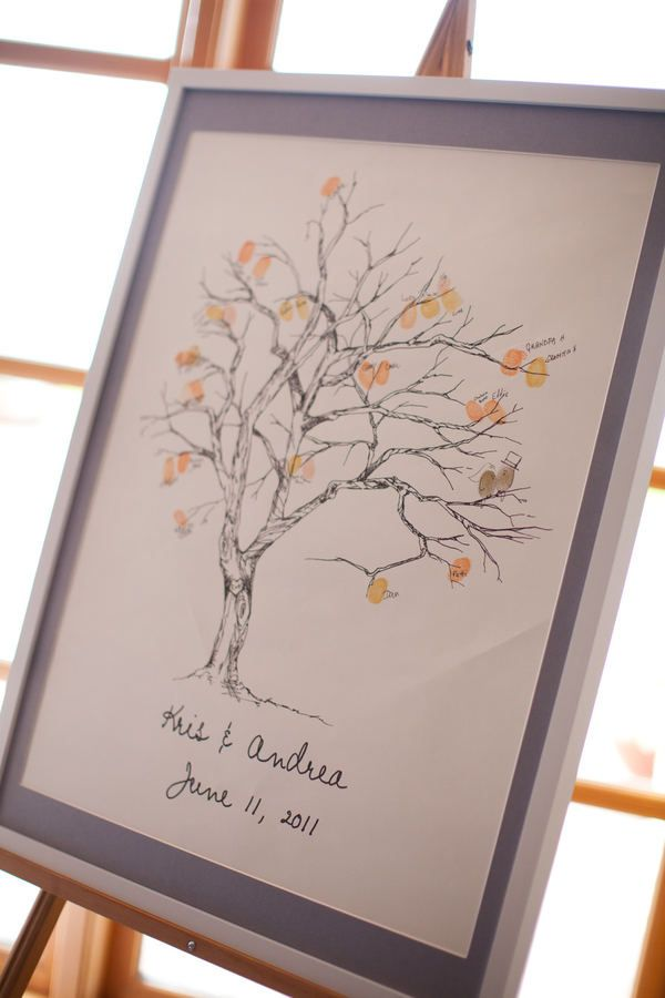 blaine wedding by mich le m waite photography thumbprint tree wedding and guest books