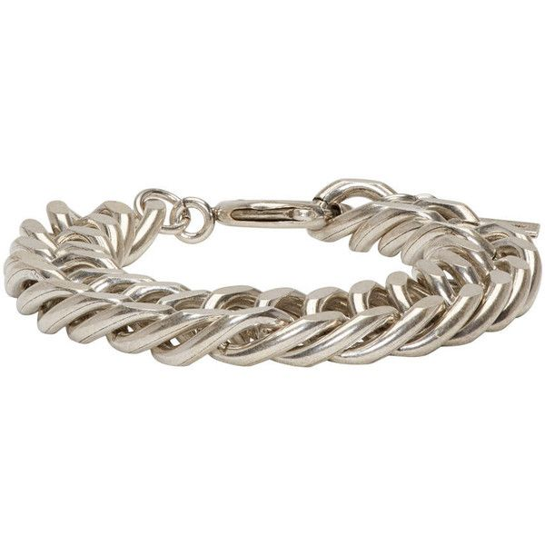 Isabel Marant Silver Chain Matazz Bracelet ($98) ❤ liked on Polyvore featuring jewelry, bracelets, isabel marant jewelry, silver bangles, chains jewelry, silver jewellery and isabel marant