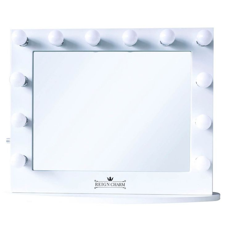 "Cinema Series Hollywood Vanity Mirror, 12 LED Lights, Dual Outlets & USB, 32""W x 27""H"