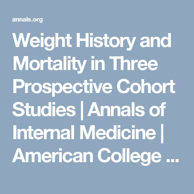 Weight History and Mortality in Three Prospective Cohort Studies | Annals of Internal Medicine | American College of Physicians