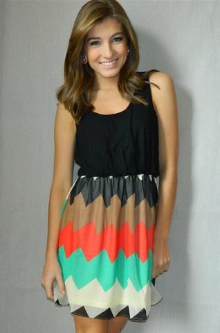Chevron Cutie Dress | Girly Girl Boutique