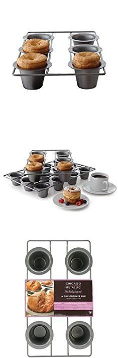 Chicago Metallic Popover Pan. Chicago Metallic Professional 6-Cup Popover Pan, 15.5-Inch-by-9-Inch.  #chicago #metallic #popover #pan #chicagometallic #metallicpopover #popoverpan