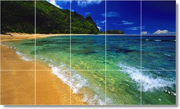 Beach Scene Ceramic Tile Mural B106 traditional-tile-murals