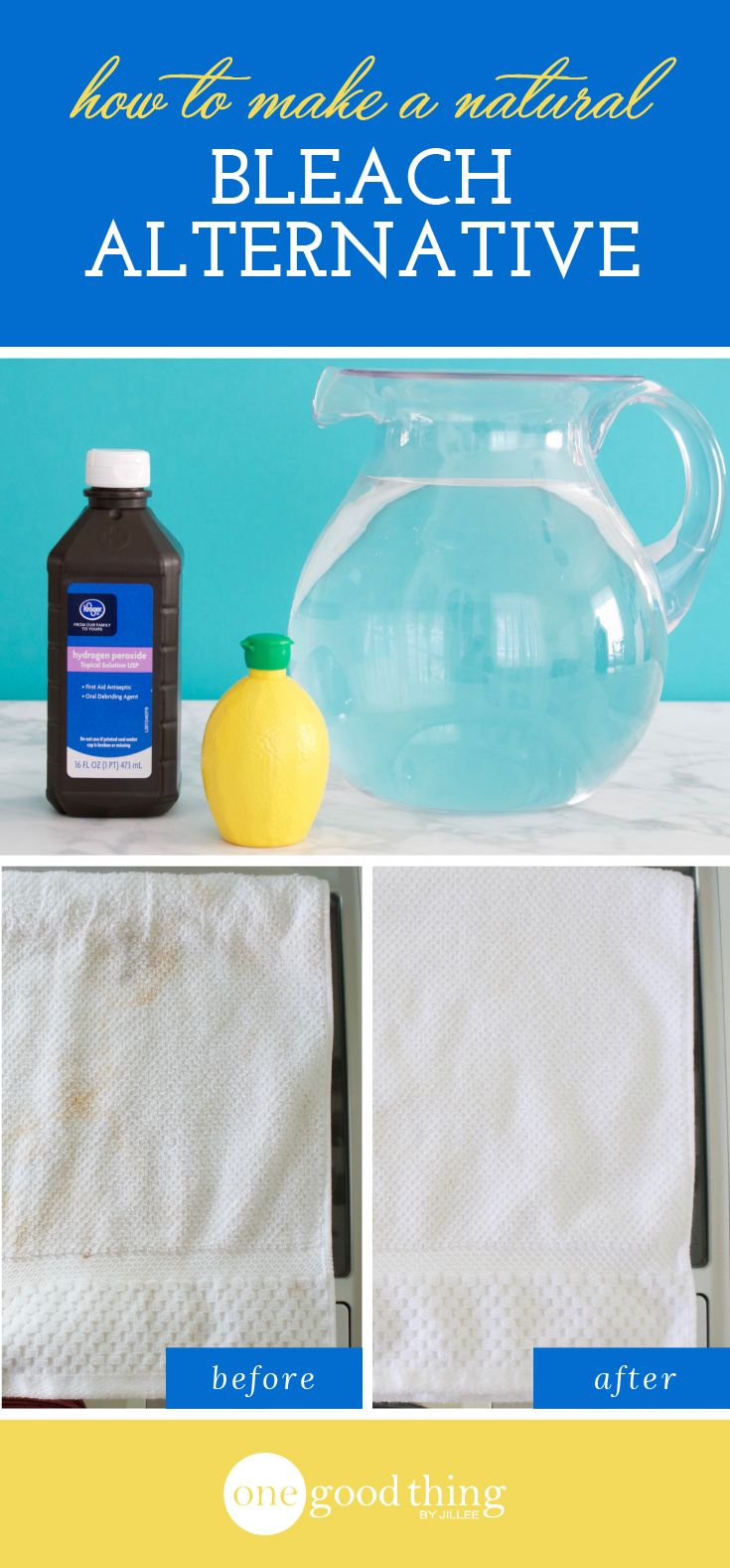 How To Make A Simple, Natural Alternative To Bleach - One Good Thing by Jillee