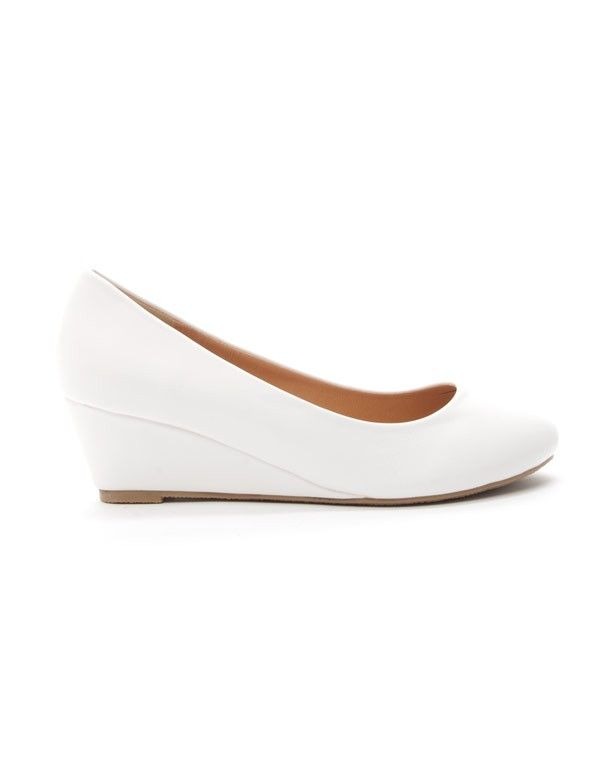 chaussures femme style shoes escarpin compense blanc - Chaussures Compenses Blanches Mariage