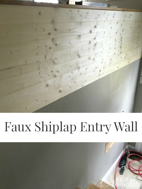 Faux Shiplap Wall Entry in a Raised Ranch