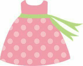 Vestidito Rosita de niña dibujo recortable molde ideal para baby shower bautizo o cualquier otro evento de niña