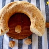 Rosca de pan integral en cazuela  horno