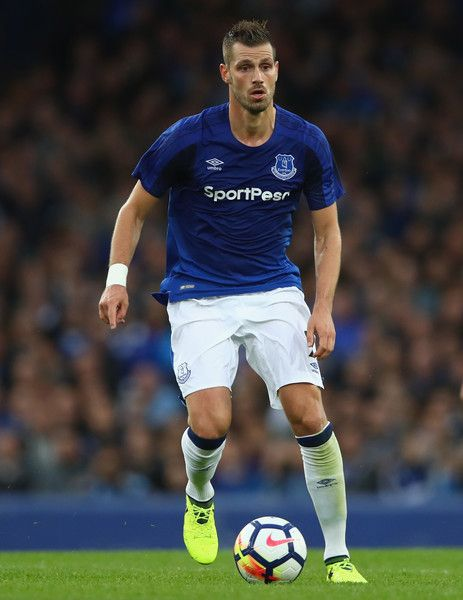 Morgan Schneiderlin of Everton in action during the UEFA Europa League Third Qualifying Round, First Leg match between Everton and MFK Ruzomberok at Goodison Park on July 27, 2017 in Liverpool, England.