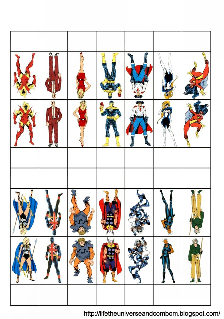 Marvel RPG Figures by Pazza - Just Print And Play ...