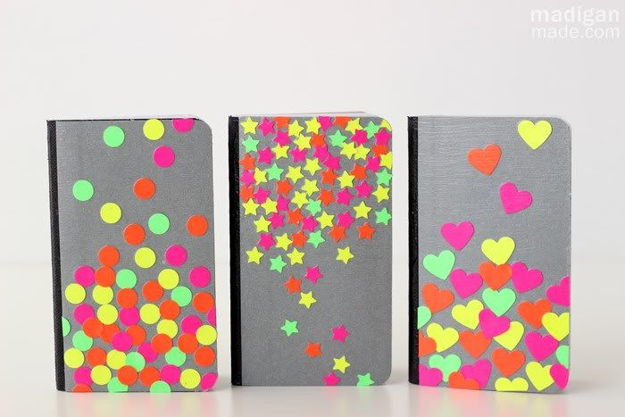 ideas decorar libretas con pegatinas - DIY niños, manualidades, artesanias vuelta al cole