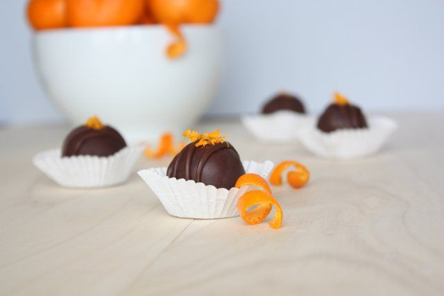 A recipe for paleo mandarin chocolate truffles that are refined sugar free and dairy free.