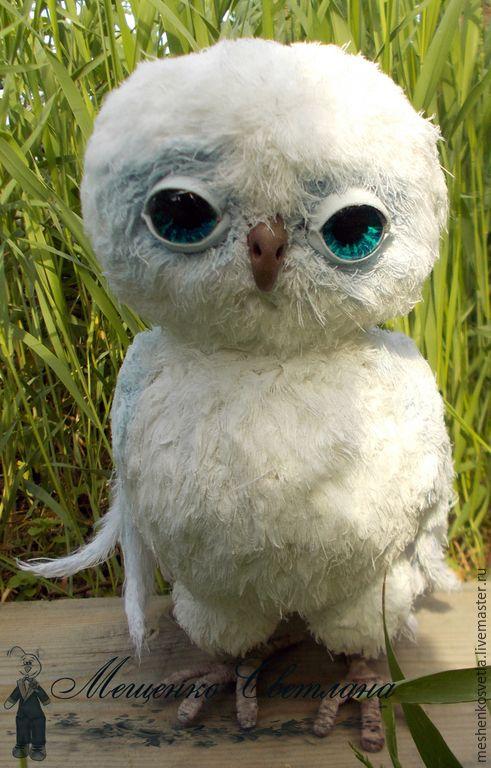Купить Сова белая. Сова текстильная. Птицы. Авторская игрушка - белый, сова, сова в подарок