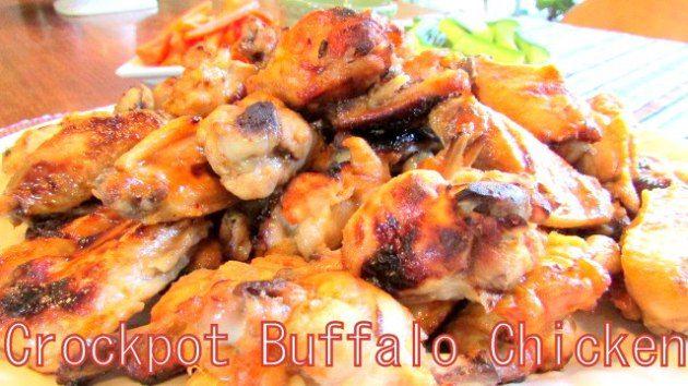 Simple Crock Pot Buffalo Chicken Wings - Crockpot Freezer meals