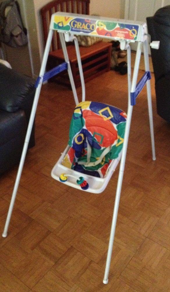 RARE Vintage Graco Swyngomatic Baby Wind Up BABY SWING | ~Vintage ...