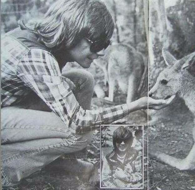 David Cassidy...loves animals and they love him.